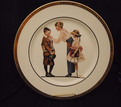 """1980 Norman Rockwell Collector's Plate """"Off to School""""  By Cerami Corner - $23.36"""