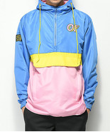 NWT Odd Future Color Block Yellow, Pink & Blue Anorak Jacket Wind Hoodie... - $52.65