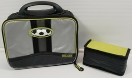 Artic Zone Insulated Lunch Bag Box Kids Soccer With Inside Snack Holder - $7.91
