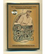 The Babe Official Baseball Stamp Cards - 12 Card Set - Factory Sealed Pack - $17.33