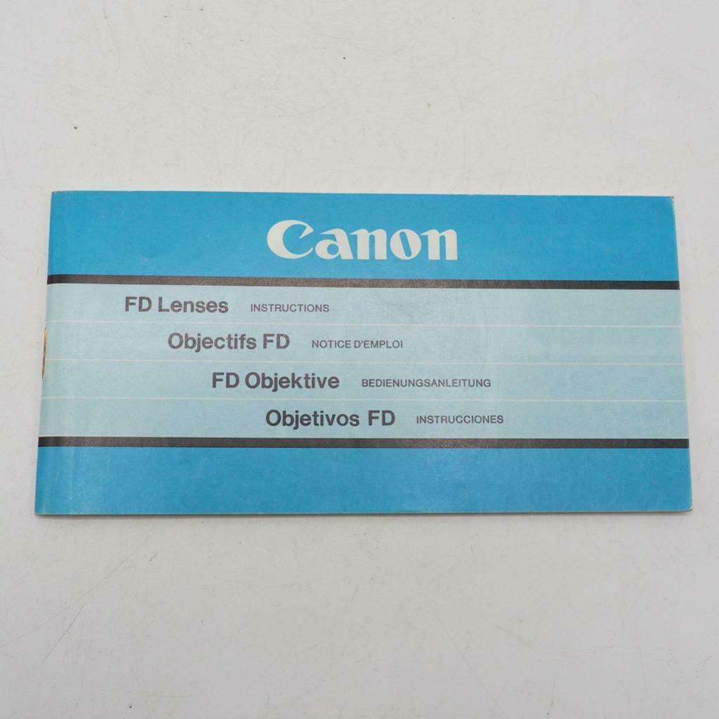 Primary image for Vintage Canon FD Lenses Instructions Manual / Booklet 1981