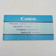 Vintage Canon FD Lenses Instructions Manual / Booklet 1981 - $34.28