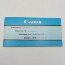 Vintage Canon FD Lenses Instructions Manual / Booklet 1981 - $34.28