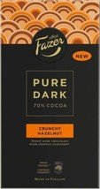Fazer Pure Dark 70% cocoa Crunchy Hazelnut chocolate bars 95g (set of eight) - $44.54