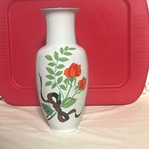 "Vintage Seymour Mann Only a Rose by Eda Fine China 14"" Tall Porcelain Va... - $24.74"