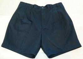 Roundtree & Yorke Size 50 ELASTIC WAIST Navy Blue Cotton Pleated New Men... - $33.18
