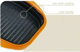 Rangemate Nonstick Grill Pan Microwave Cooker Kitchen Frying Pan Enhanced Lid image 4