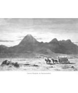 CALIFORNIA Lassens Butte Sacramento Valley - 1883 German Print - $9.00