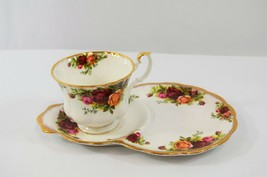 Royal Albert Old Country Roses Hostess Tennis Luncheon Set Teacup & Plat... - $48.19