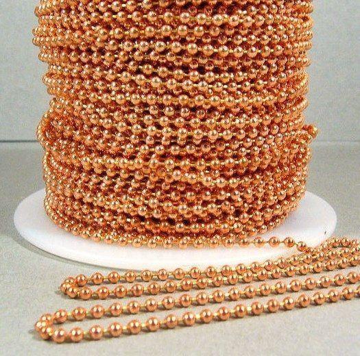 10 Feet NPS Steel BALL Chain 10 Connectors ~ 2.4mm #3 Bulk Chain Made in USA