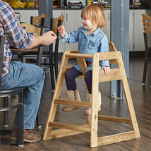 Assembled Stacking Restaurant Wood High Chair with Natural Finish - $52.75