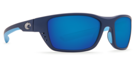 Costa Del Mar WTO 123 TBMP White Tip Matte Heron Blue Mirror Sunglasses - $155.43
