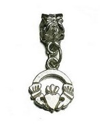 NICE Celtic Claddagh Charm bead jewelry Sterling Silver .925 - $19.75