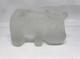 "Viking Glass Handmade Art Glass ~ Hippopotamus ~ 4.25"" X 2.75"" Vintage MCM - $25.64"
