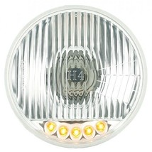 "United Pacific 5 3/4"" Crystal Halogen Headlight With 5 LED Position Lights - $44.99"
