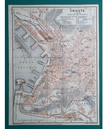 ITALY Trieste City Town Plan - 1911 MAP - $16.20