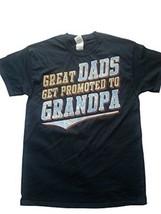 GILDAN GREAT DAD'S GET PROMOTED TO GRANDPA BLUE MEN'S MEDIUM T-SHIRT NEW - $10.97