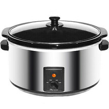 Brentwood 8.0 Quart Slow Cooker Stainless Steel - $94.07