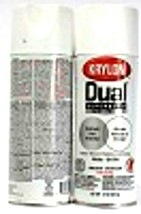 2 Krylon Dual Superbond 8822 Satin White Fast Dry Paint & Primer Spray 12oz - $17.99