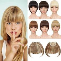 100% Natural Thin Bangs Fringe Clip in Hair Extensions Front Bangs image 6