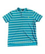 POLO RALPH LAUREN Men's Custom Fit Electric Blue White Stripe Polo Shirt... - $16.34