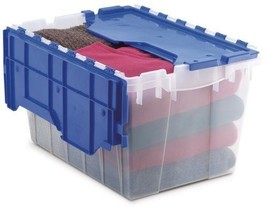 12 Gallon Plastic Storage KeepBox with Attached... - $25.96