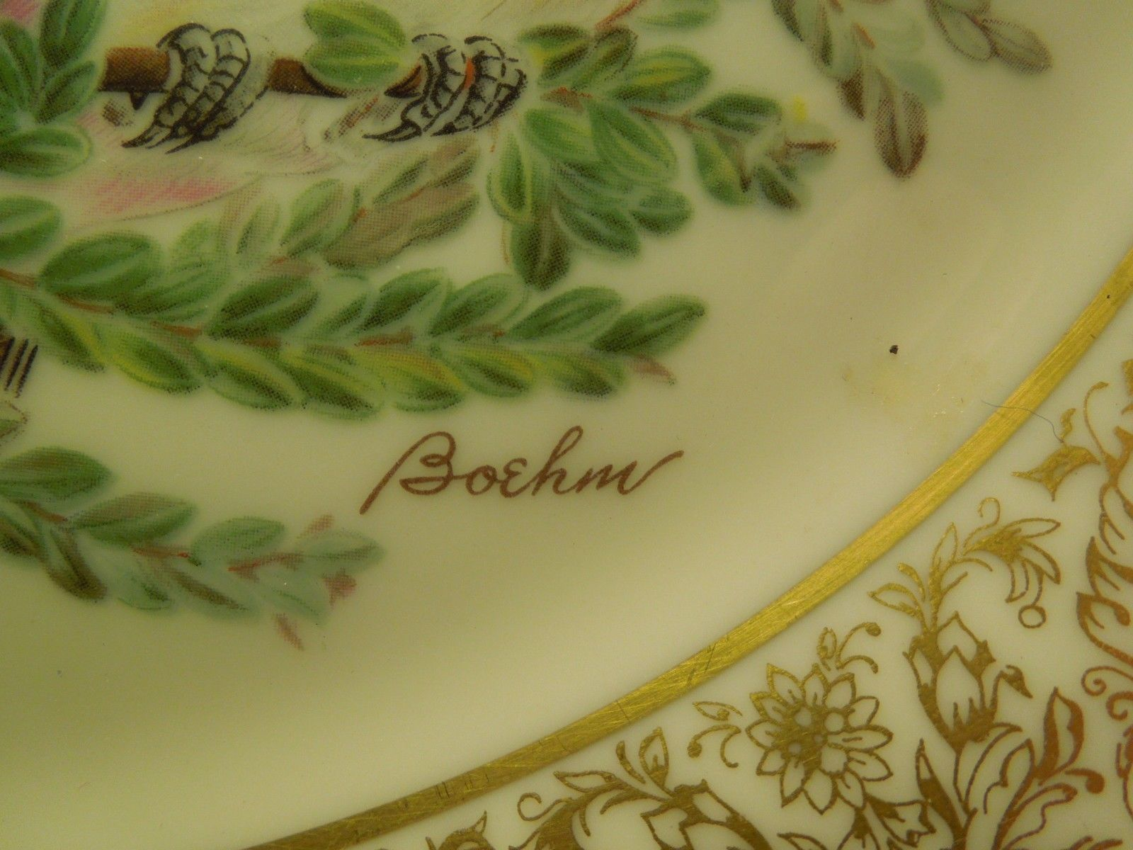 Vintage 1981 Lenox Limited Edition Boehm Birds Plate Eastern Phoebe Collectible