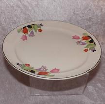 "Hall Crocus 8"" Luncheon Plate Vintage Superior Hall Ceramic Dinnerware Dishes - $23.99"