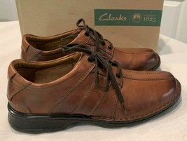 Clarks  Men's Touareg Vibe  Casual Lace Up Oxford Shoes Brown Leather  S... - $59.19