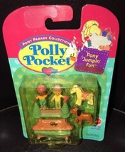 1995 BLUEBIRD NIP VINTAGE POLLY POCKET PONY JUMPIN FUN DOLLS Parade Coll... - $46.52