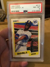 1990 Fleer Ken Griffey Seattle Mariners #513 Baseball Card PSA 8 - $6.12