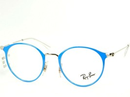 """Ray Ban Rb 1053 4068 Top Blue On Silver Eyeglasses Frame 43-18-130mm """"Read"""" - $63.86"""