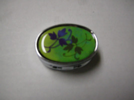 Pill Box, Lite Up, Green & Blue Leaf Design, 2 Compartment, Brand New - $6.99