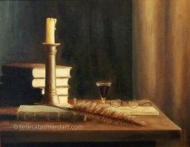 Vintage-Style Still Life Original Painting by Teresa Bernard 14x11 Sign... - $300.00