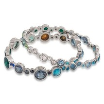 Carolee Gems And Tonic Bubble Bangle Bracelet - Set Of 2 NWT - $37.20