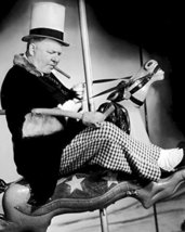 W.C. Fields In Poppy Vintage Pose Riding Carousel 16X20 Canvas Giclee - $69.99