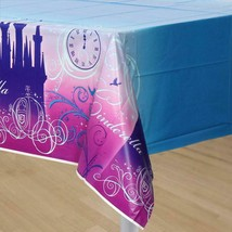 Disney Cinderella Sparkle Plastic Table Cover 1 Count Birthday Party Supplies - $14.80