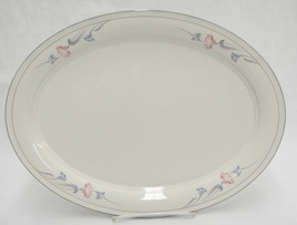 """Lenox Glories on Gray 14"""" Oval Platter Very Good Made in USA Chinastone - $19.79"""