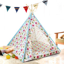 Canopy Teepee Indian Tent House Bed for Dog Cat Small Animal Pet - $16.82