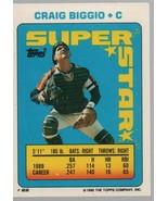 Craig Biggio - C - Super Star Baseball Card #22 - Topps Company - 1990 C... - $0.97
