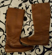Kate Spade Camel Colored Leather Knee-High Flat Boots - $40.00
