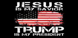 Lot of 6 Jesus Is My Savior Trump Is My President USA Vinyl Decal Bumper Sticker - $6.99