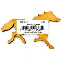 Northwoods Wood Cutout Running Horse Jigsaw Puzzle Design Magnet image 2