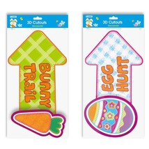 3Pc Easter Pop Layer Cutout With Hot Stamping, 2 Designs, Case of 48 - $91.64
