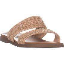 Steve Madden Dede Double Strap Flat Sandals, Natural, 9.5 US - $26.87