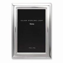 Bilaminate Sterling Silver Wide Plain Beaded 7.5x9.5 Frame - $179.69