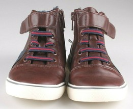 0Cat & Jack Toddler Boys' Brown Ed Sneakers Mid Top Shoes 12 US NWT image 2