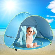 R HORSE Baby Pool Tent Baby Beach Tent with Pool and Fluorescent Wristband - $51.82