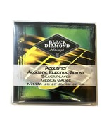 Black Diamond Guitar Strings Acoustic Medium Silver Plated N754M 13-56 - $14.99