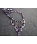 Amethyst drops gemstone choker - $53.00